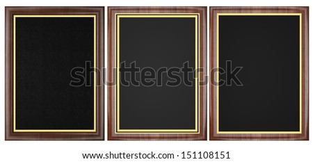 Wood Plaque Collection. - stock photo
