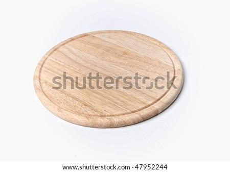 wood plate for food - stock photo
