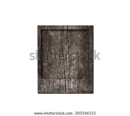 Wood. Polaroid photo - stock photo