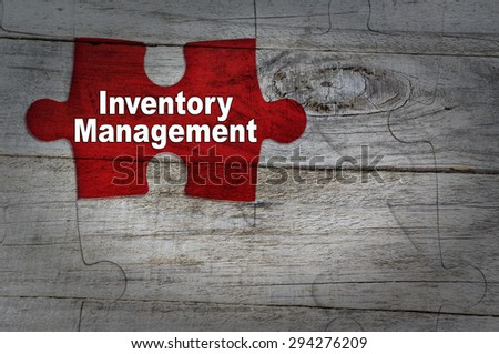 Wood Puzzle: Inventory management - stock photo