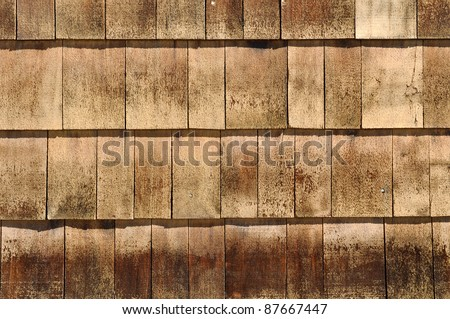 Wood Roof Shingles - stock photo