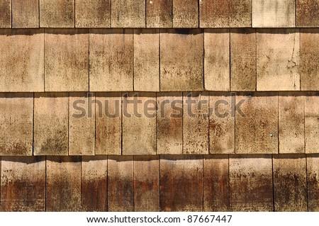 Wood Roof Shingles - stock photo