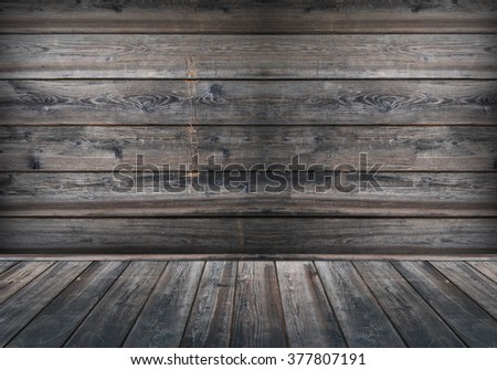 Wood room and wooden background