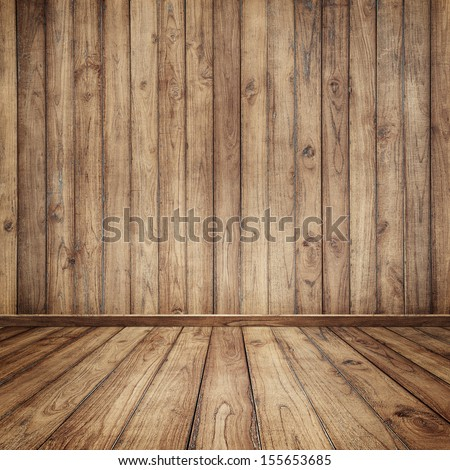 Wood room for background  - stock photo