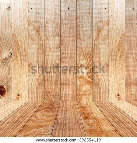 Wood room for background copy space - stock photo