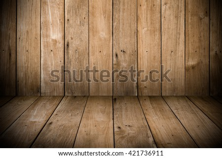 wood room or box for background