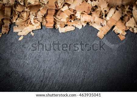 wood sawdust texture background and slate space for text