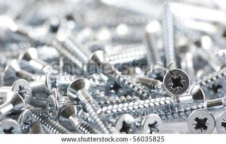 wood screws - stock photo