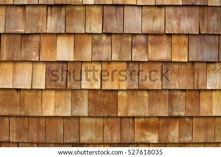 Wood Shake Wall.Building wall. Wood shake.