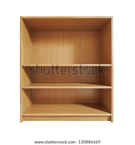Wood shelf - stock photo