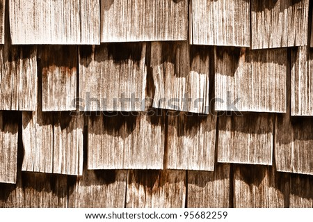 Wood Shingle Background - stock photo