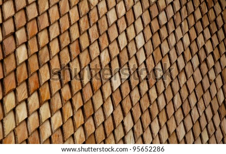 wood shingles - stock photo