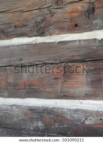 wood side of the cabin