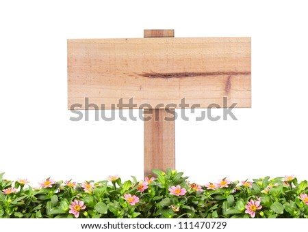 wood sign isolated on a white background