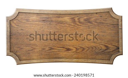 wood sign isolated on white - stock photo
