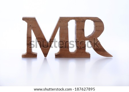 wood sign of mister (Mr) - stock photo