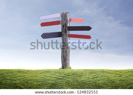wood Signs on a white background