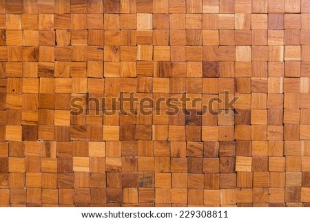 wood square texture background - stock photo