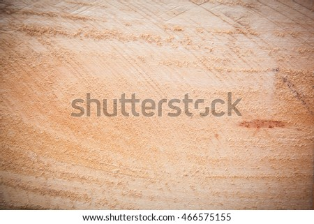 Wood surface Cut with a saw For background