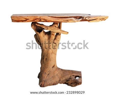 Wood Table (Root tree) with Path