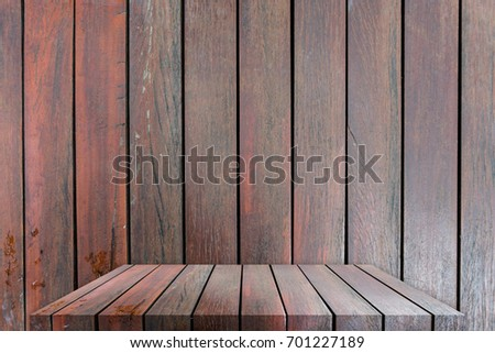 Wood table top or shelf with background