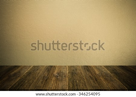 Wood terrace and Leather texture background surface natural color , process in vintage style