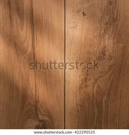 Wood texture. Background of wood. Plank brown wood. Pattern natural wood. Sqaure backdrop wood. Old wooden wall with light. - stock photo