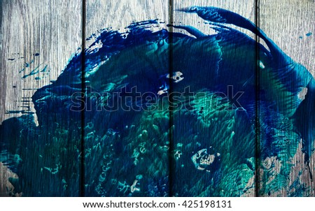 Wood texture color splash abstract background - stock photo
