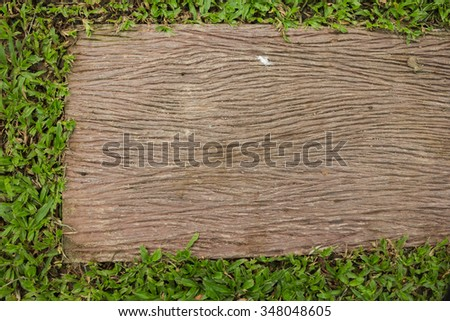 wood Texture of Cement