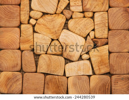 Wood texture of cut tree trunk, close-up - stock photo