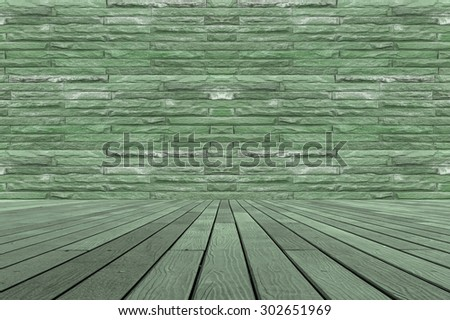 wood Texture of wood Maple pattern background brick Wall - stock photo