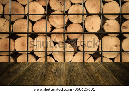 Wood texture surface natural color use for background , process in vintage style with Wood terrace - stock photo