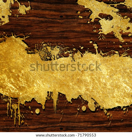 wood texture with gold and a place for text