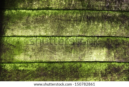 Wood texture, with weathered look, old and green - stock photo