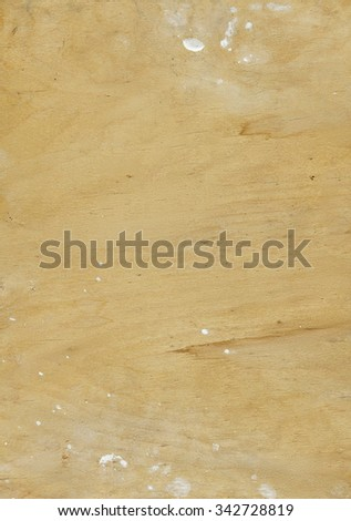 Wood texture with white paint stains on borders - stock photo