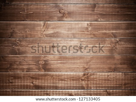 Wood texture, wooden wall background - stock photo