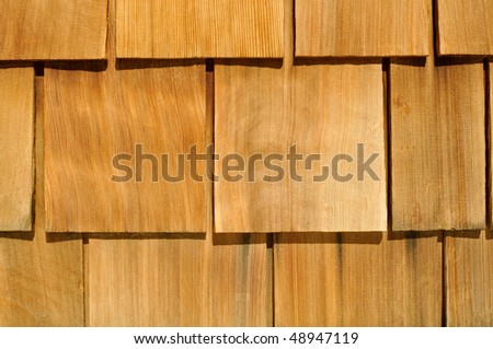 Wood Textured Shingle Background - stock photo