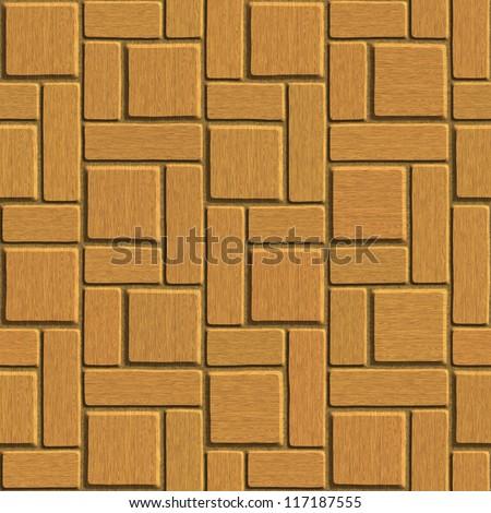 wood tile seamless texture - stock photo