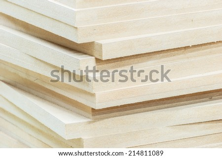 Wood timber construction material - stock photo