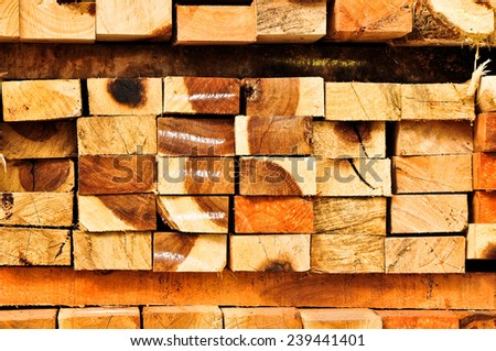 Wood timber construction material for background. - stock photo