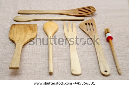 Wood traditional kitchen tools