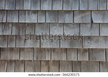 Wood wall, a texture detail in exterior building.