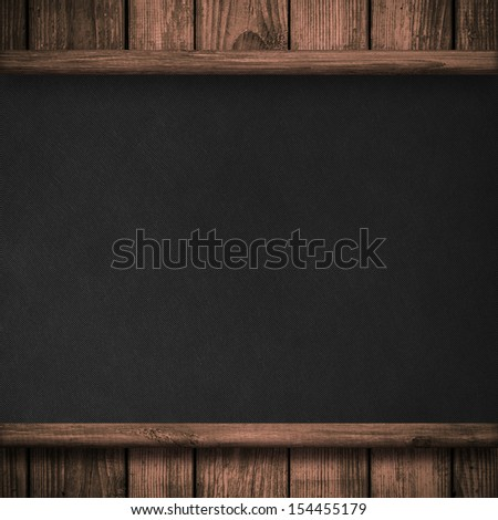 Wood wall and black canvas background or texture