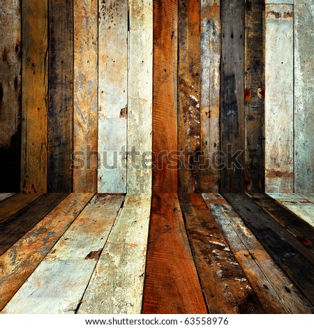 Wood wall background. - stock photo
