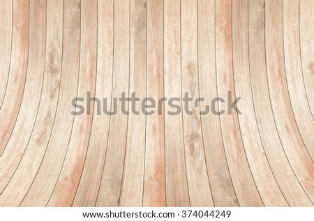 wood wall curve texture background - stock photo