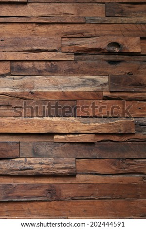 wood wall texture interior background - stock photo