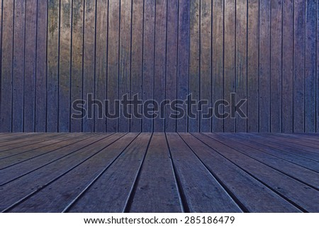 Wood walls and floor for background