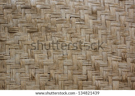 Wood weave a background look vintage - stock photo