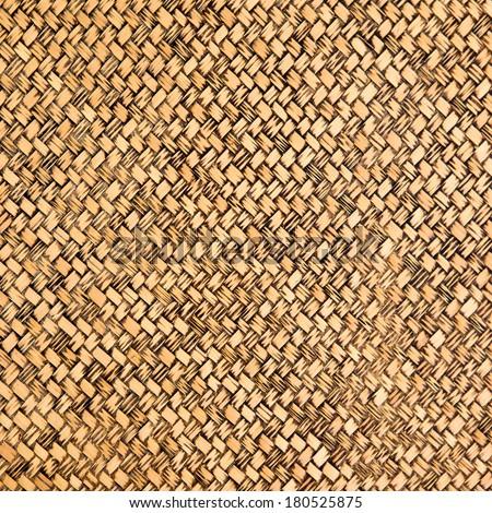 Wood weave background - stock photo