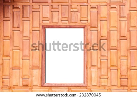 Wood window  - stock photo